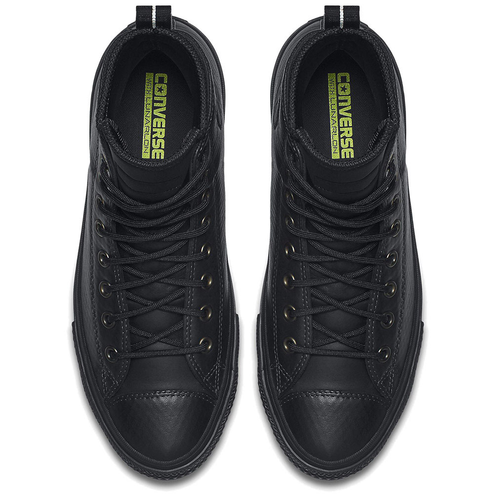 Мужские высокие кеды Converse черного цвета с тиснением