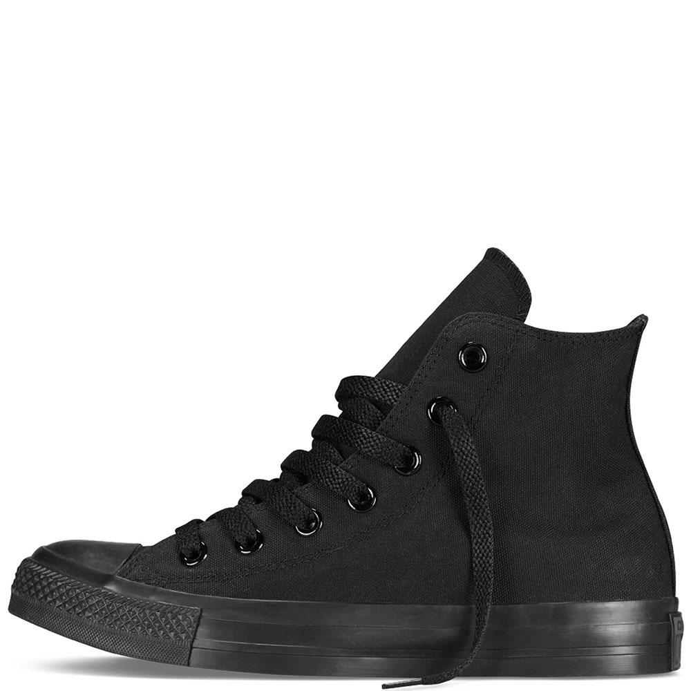 Мужские высокие кеды Converse черного цвета