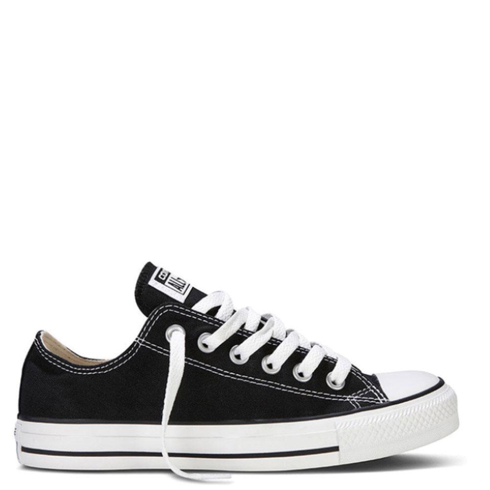 Мужские черные кеды Converse с белой подошвой и шнуровкой