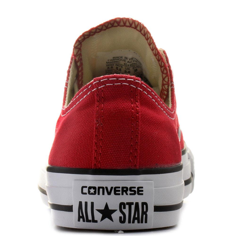Мужские кеды Converse красного цвета с черной окантовкой подошвы