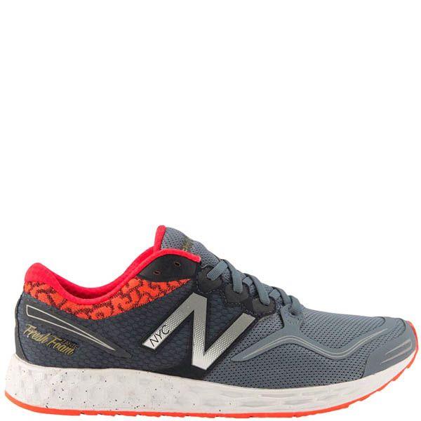 Кроссовки New Balance M1980NYC мужские серого цвета с красным