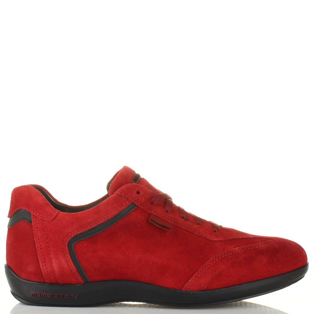 Мужские кроссовки Momodesign из натуральной замши красного цвета