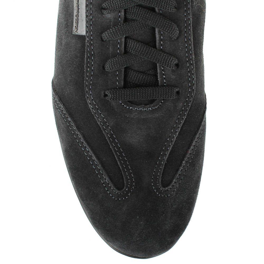 Замшевые кроссовки Momodesign черного цвета с кожаной вставке