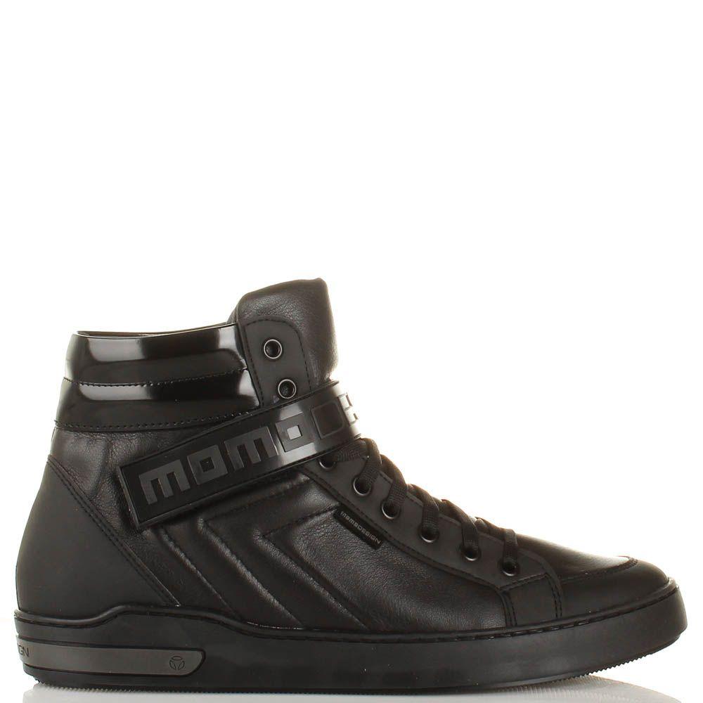 Высокие кеды Momodesign кожаные с брендированным хлястиком-липучкой