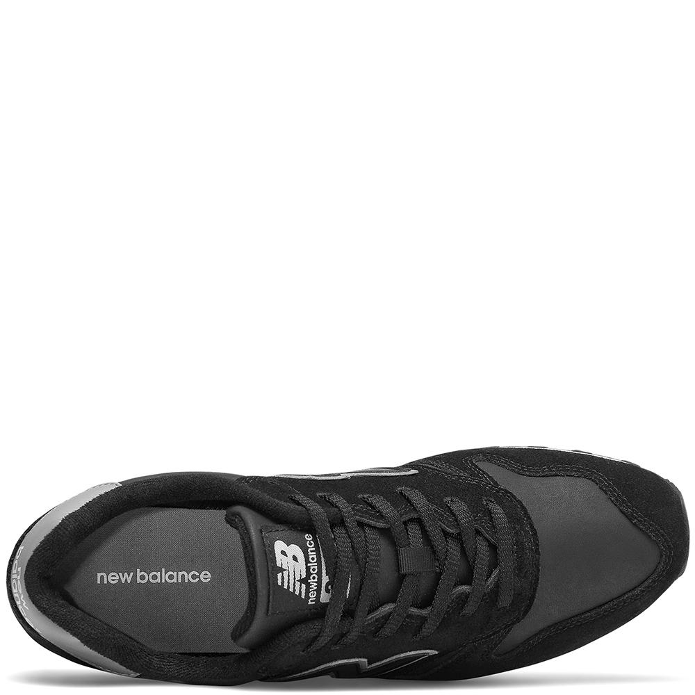 Замшевые кроссовки New Balance 373 черного цвета