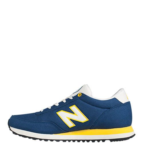 Кроссовки New Balance ML501B мужские темно-синие с желтыми вставками