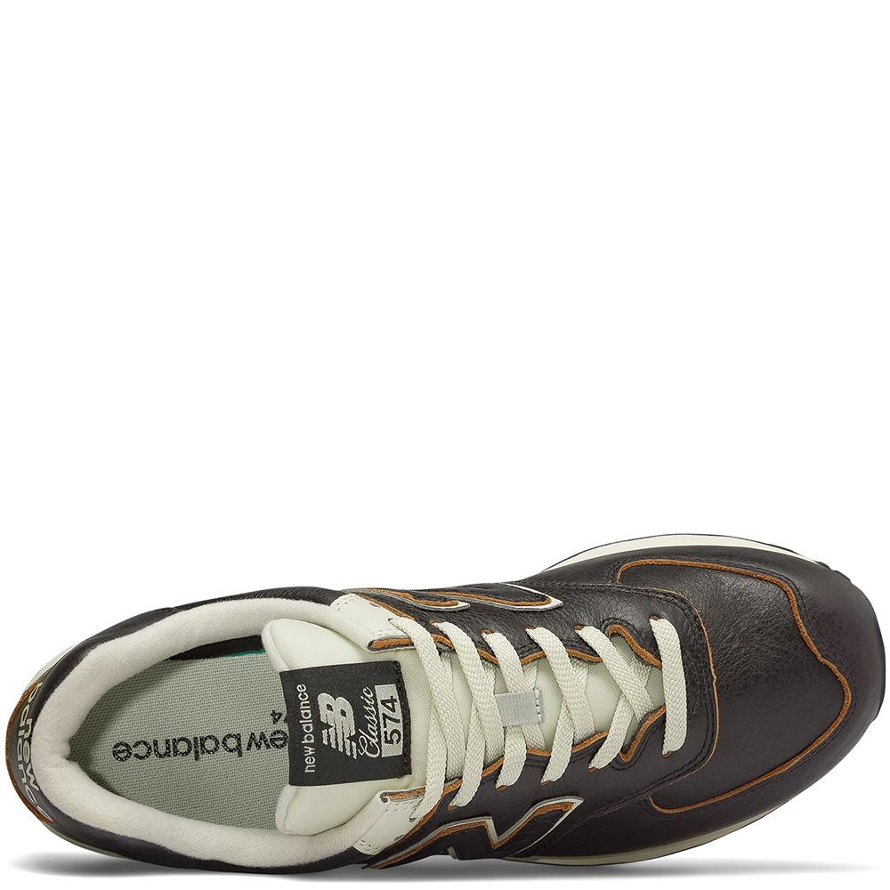 Кроссовки New Balance 574 из коричневой кожи