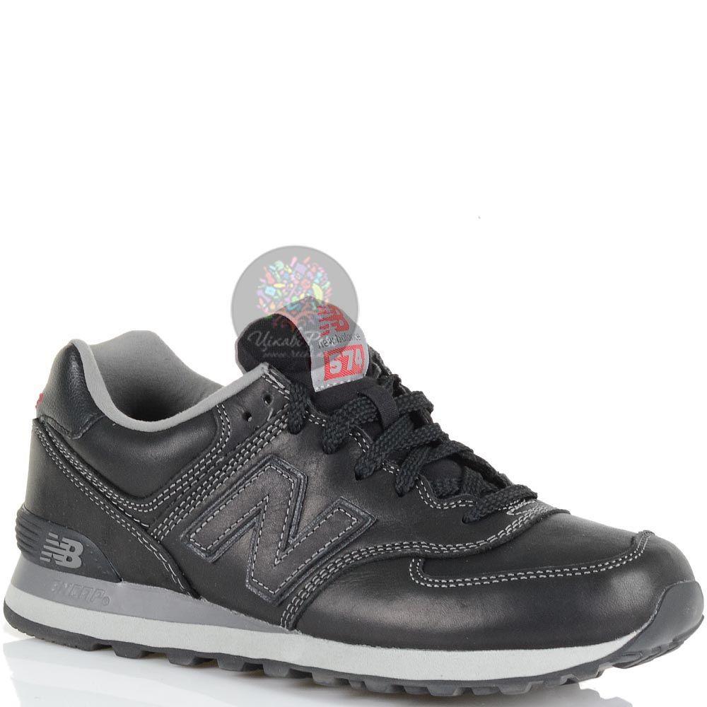 Кожаные кроссовки New Balance LifeStyle 574 Fur черные мужские