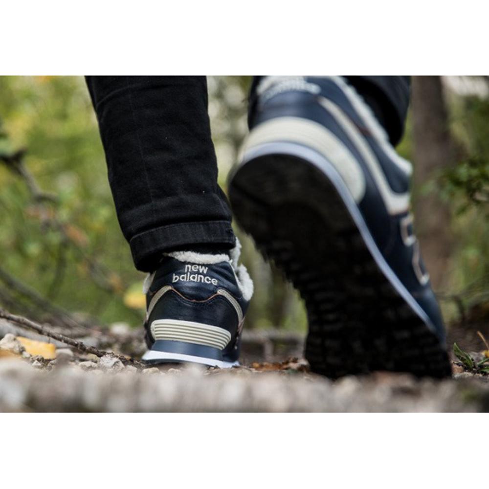 Утепленные кроссовки New Balance 574 синего цвета