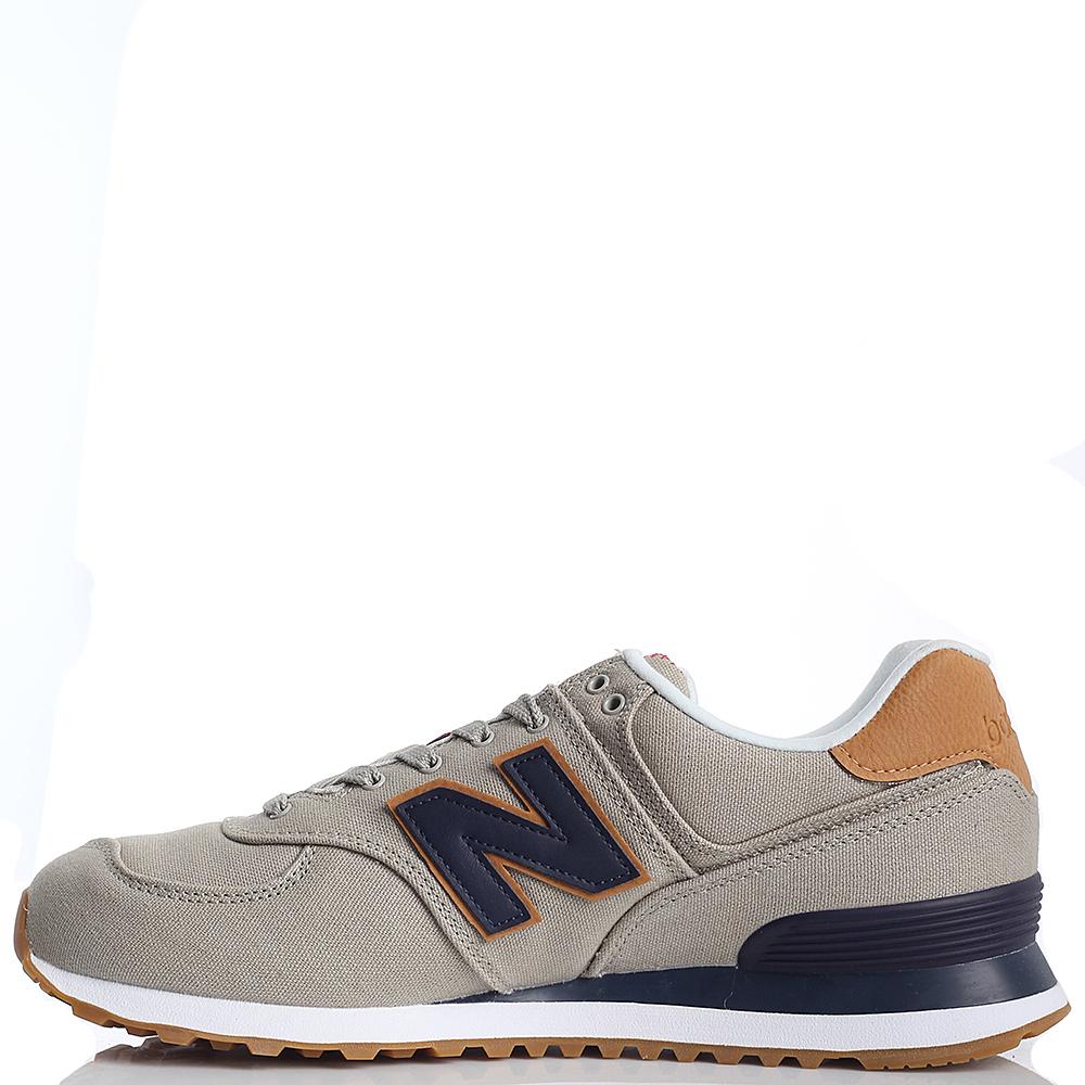 Кроссовки мужские New Balance 574 серо-коричневого цвета ML574YLB-o