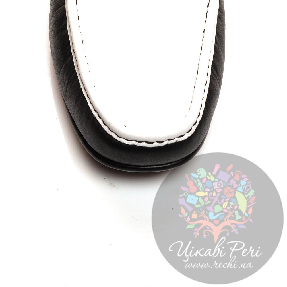 Слиперы Moschino кожаные черно-белые