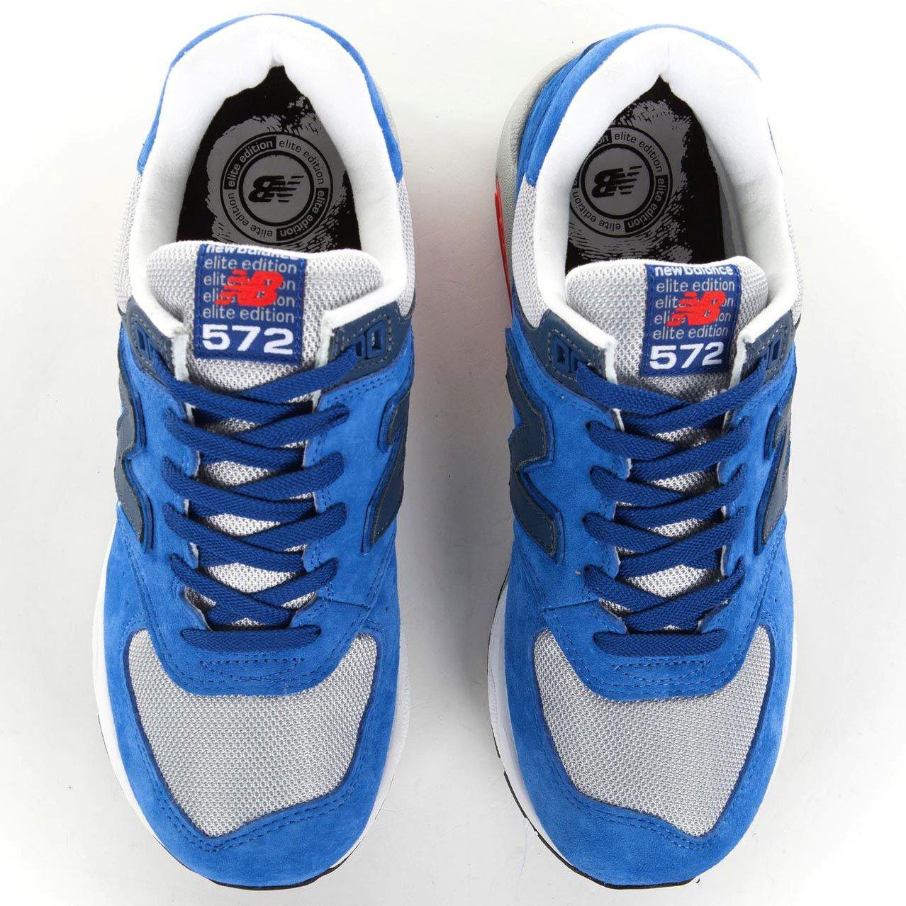 Мужские замшевые кроссовки New Balance LifeStyle 572 ярко-голубые