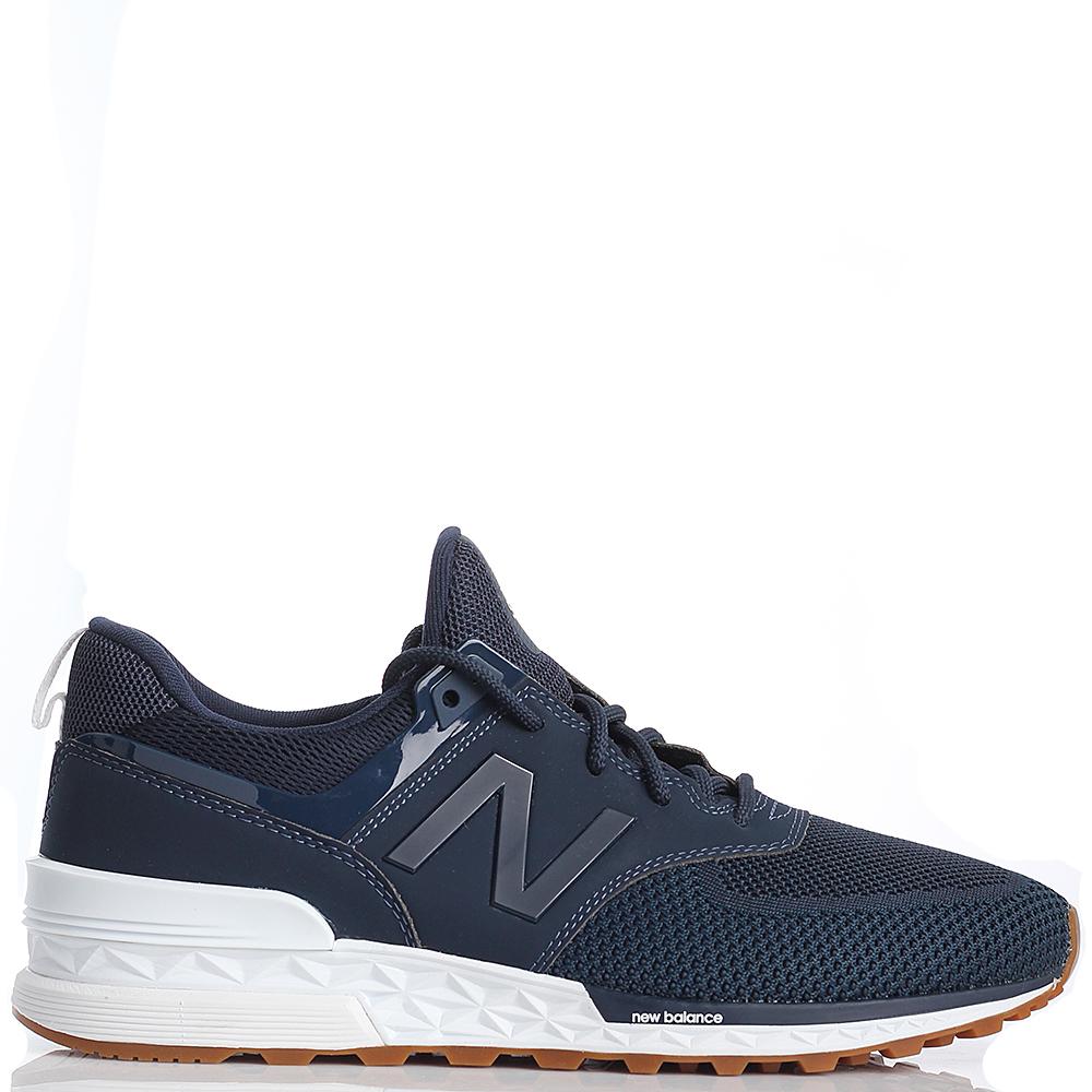 Кроссовки для спорта мужские New Balance 574 синего цвета MS574EMB-o