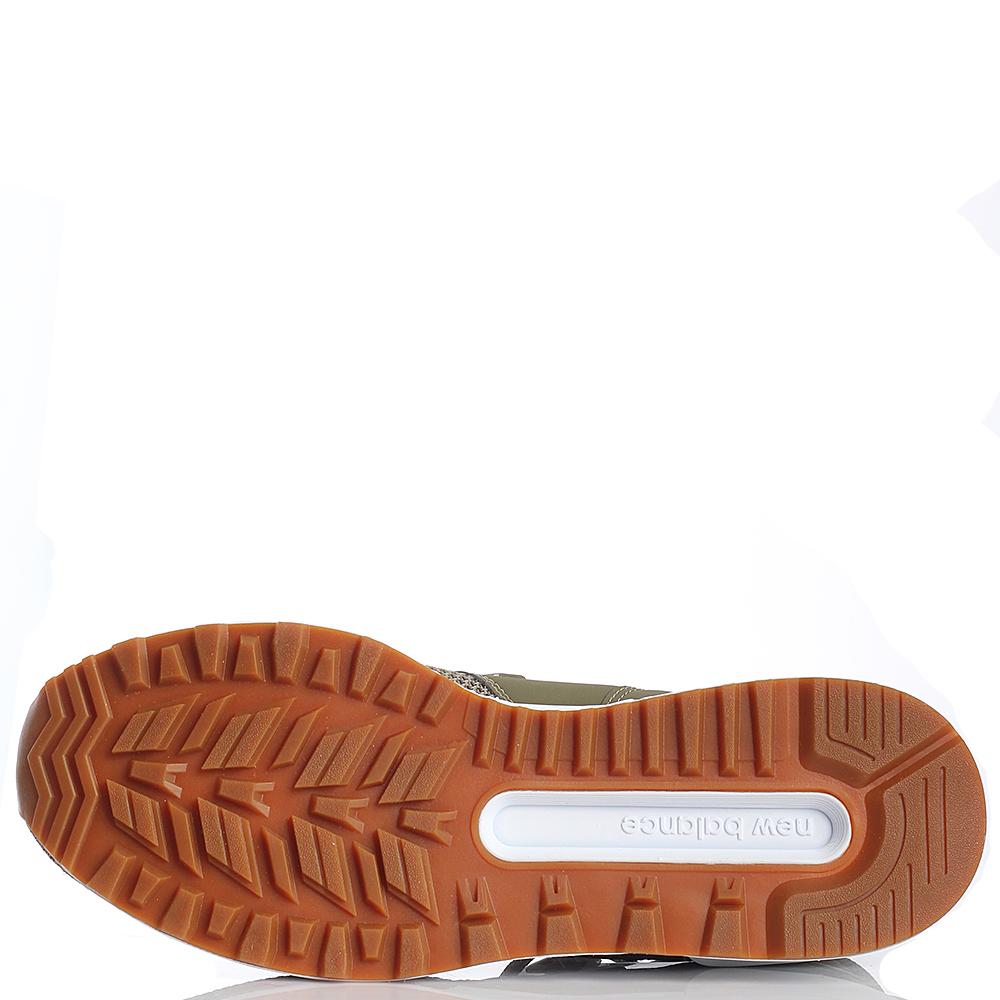 Кроссовки для спорта мужские New Balance 574 оливкового цвета MS574EMO-o