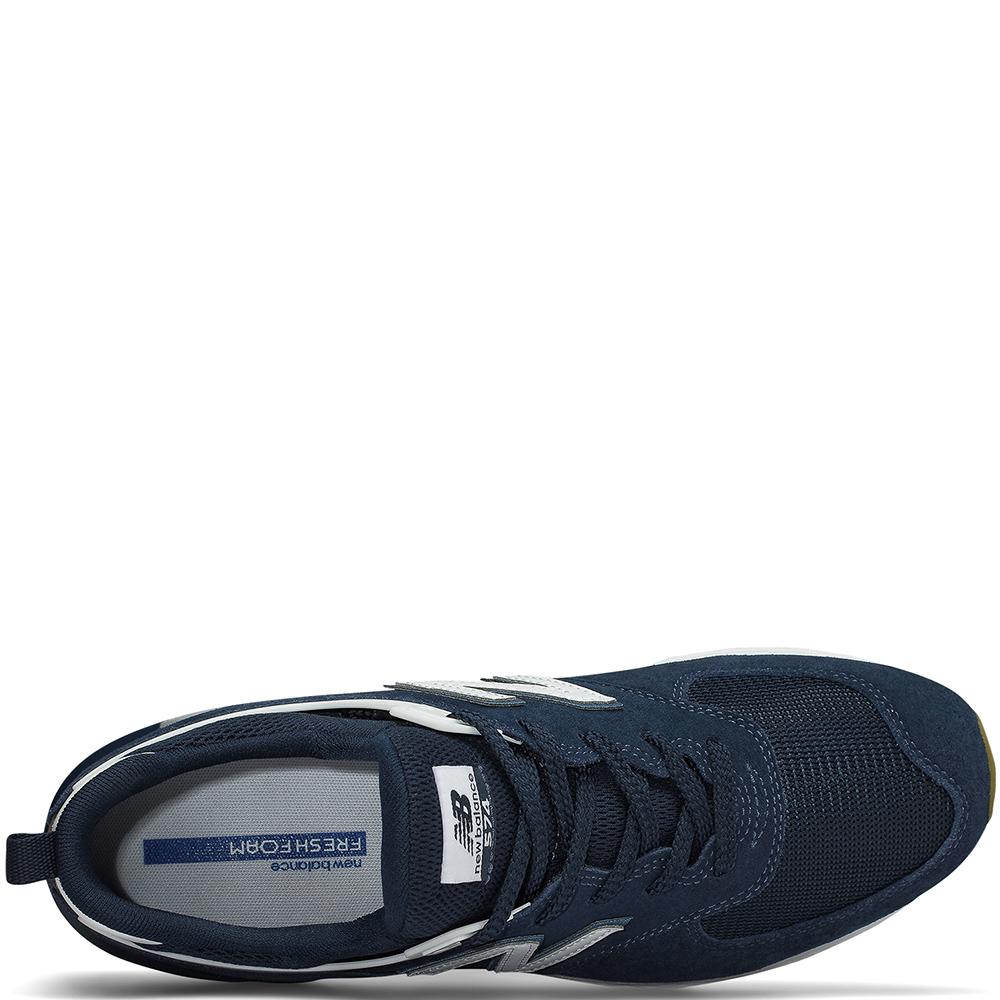 Синие кроссовки New Balance 574 на рельефной подошве