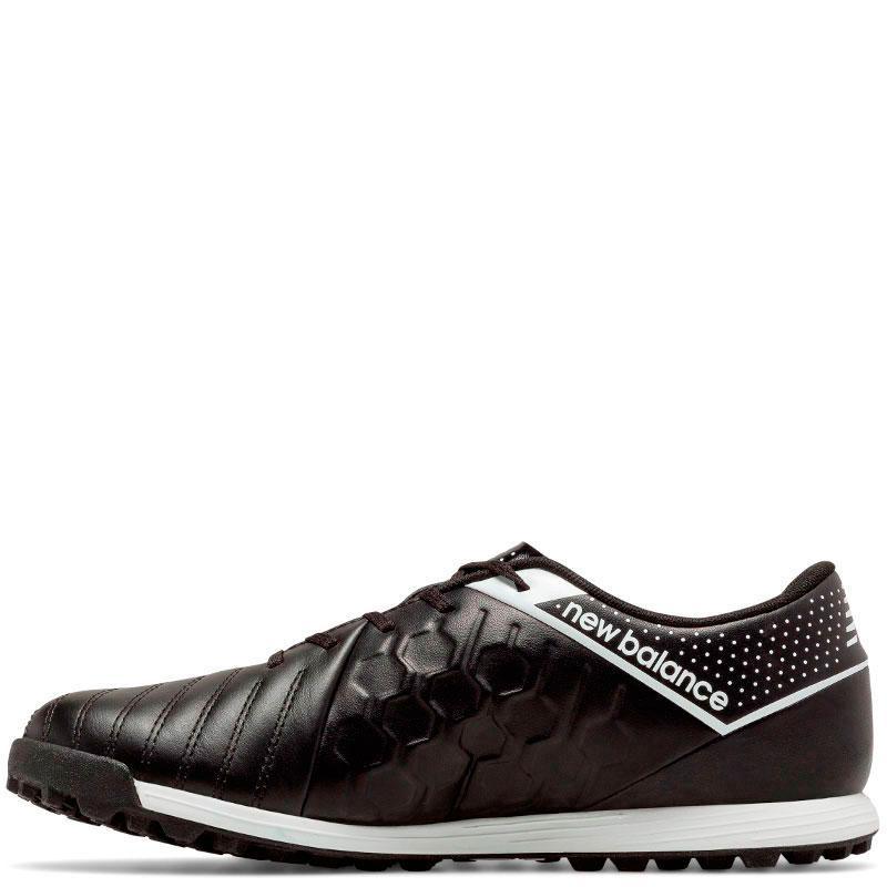 Черные кроссовки New Balance Visaro Leather TF с декоративными строчками