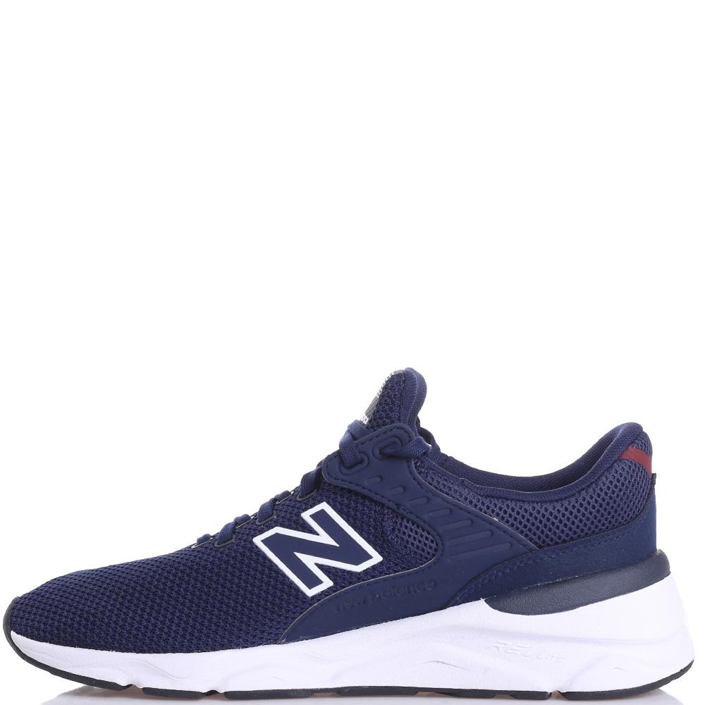 Текстильные кроссовки New Balance X-90 синего цвета
