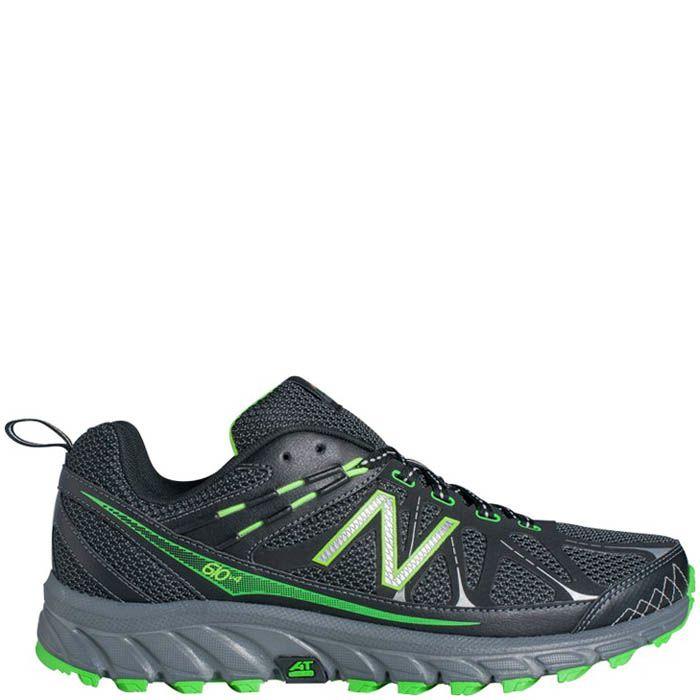 Кроссовки New Balance MT610B из сетки черного цвета с добавлением ярко-зеленого