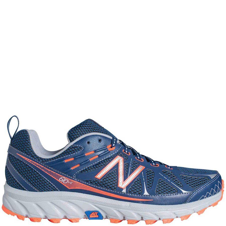 Кроссовки New Balance MT610B из сетки синего цвета с добавлением оранжевого