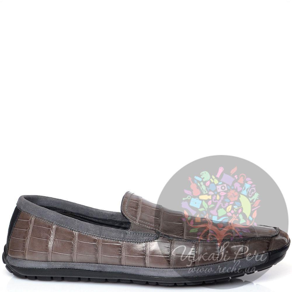 Слиперы Pakerson на протекторной спортивной подошве дымчато-коричневые с серым замшевым кантом