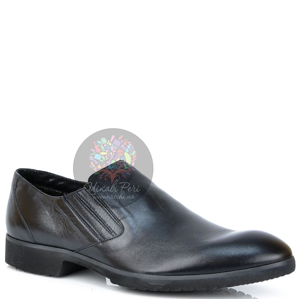 Туфли Pakerson кожаные черные утепленные