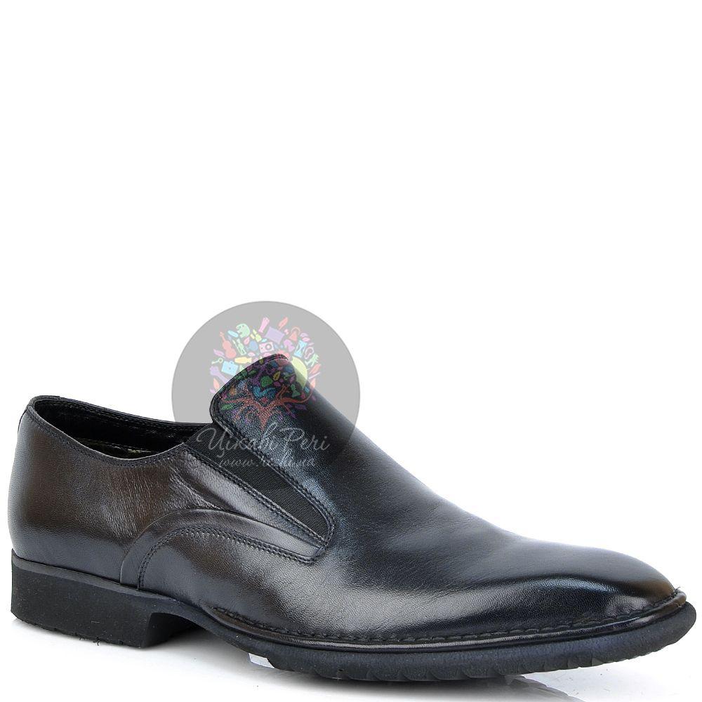 Туфли Pakerson классические кожаные черные утепленные