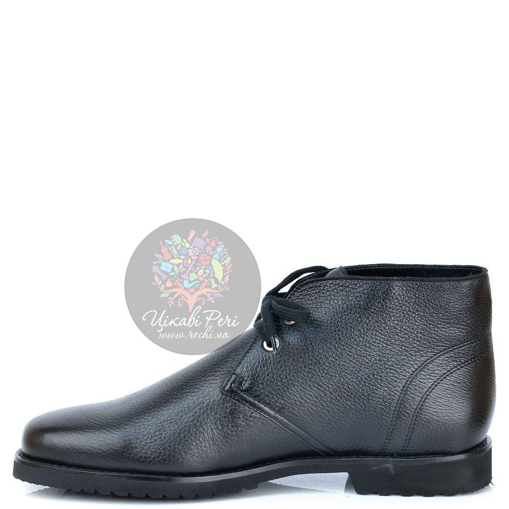 Ботинки Pakerson кожаные черные зимние с мехом на шнуровке