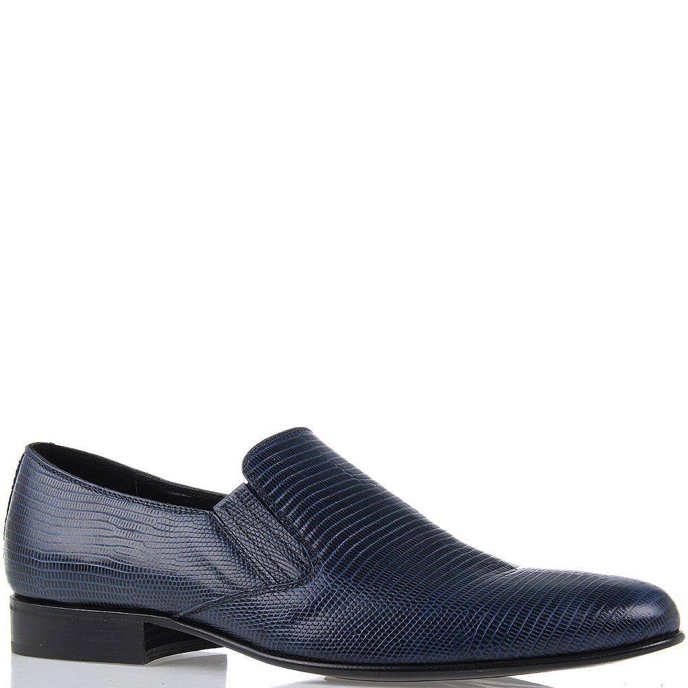 Туфли Roberto di Paolo из кожи варана синего цвета