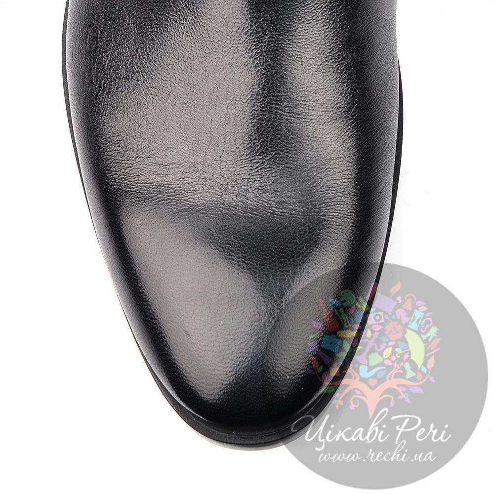 Ботинки Roberto Serpentini высокие из полированной черной кожи на молнии
