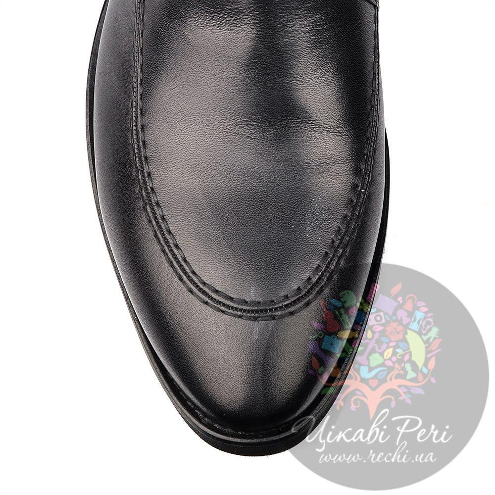 Ботинки Roberto Serpentini на молнии из черной кожи на протекторной подошве