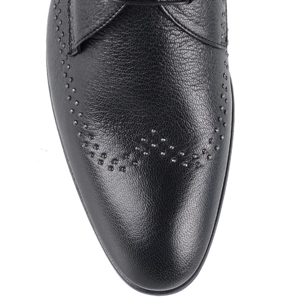 Туфли Richmond из черной кожи с металлическим декором