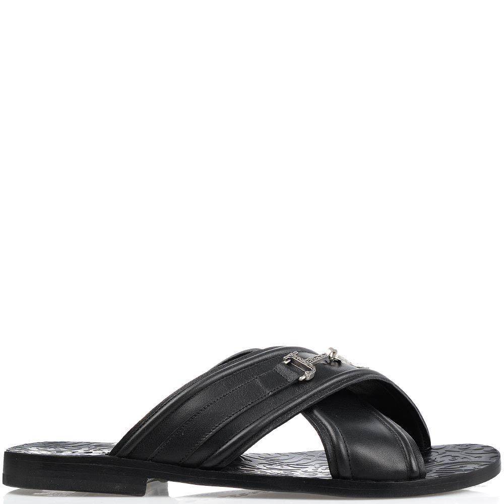 Мужские сандалии Richmond из натуральной кожи черного цвета