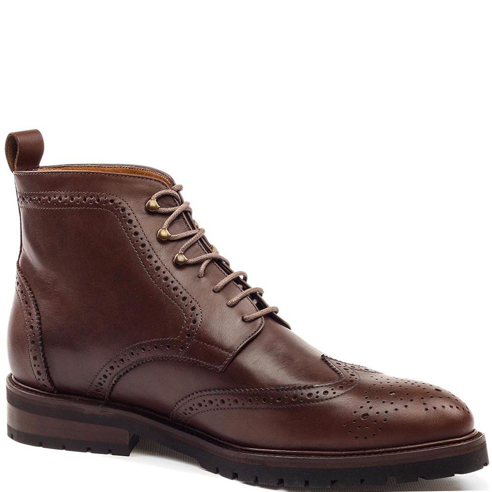 Ботинки-броги Rooster League из кожа коричневого цвета