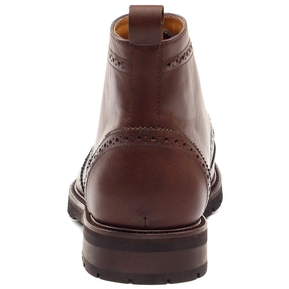 Ботинки-броги Rooster League из натуральной кожи коричневого цвета