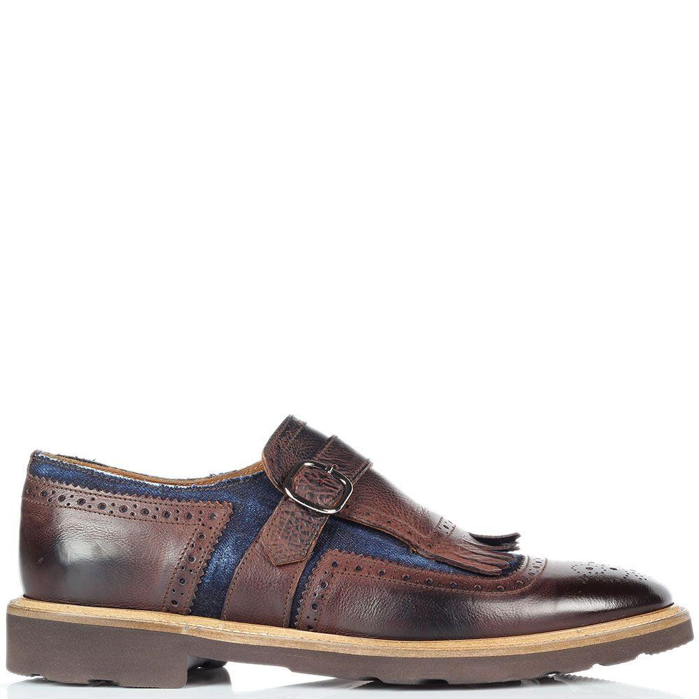 Кожаные туфли-броги Doucal's коричневого цвета