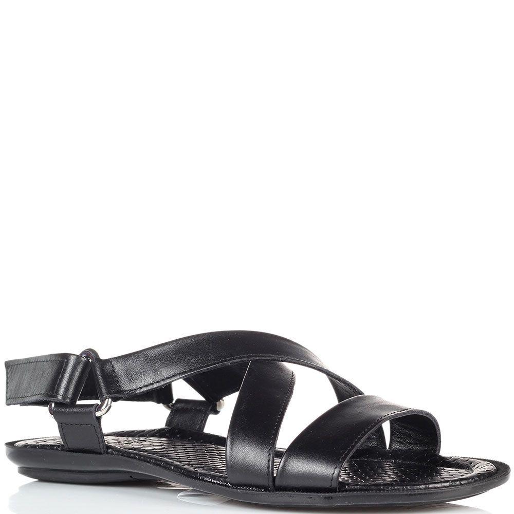 Кожаные сандалии Doucal's черного цвета