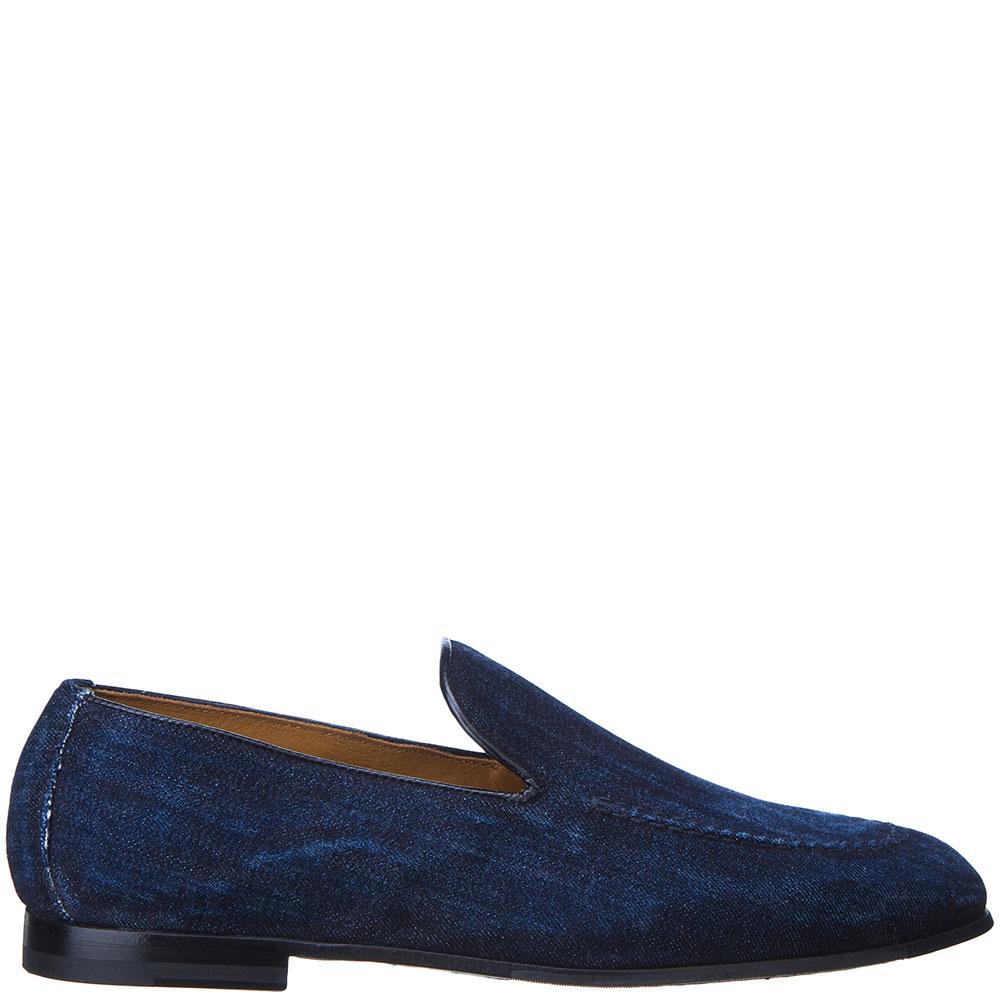 Джинсовые туфли-лоферы Doucal's синего цвета