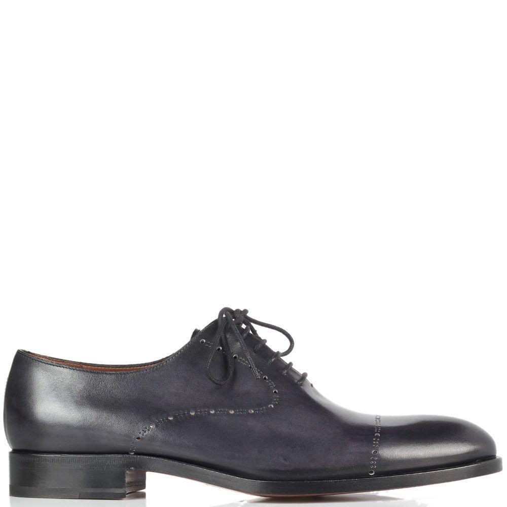 Туфли из перфорированной кожи Fratelli Rossetti черного цвета