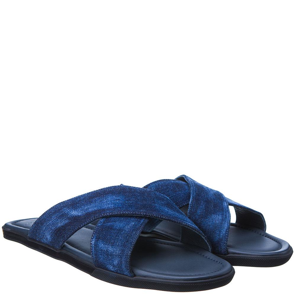 Джинсовые сланцы Doucal's синего цвета