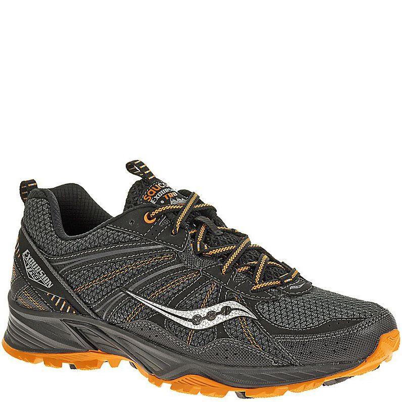 Мужские беговые кроссовки Saucony Excursion TR8 черные с оранжевым