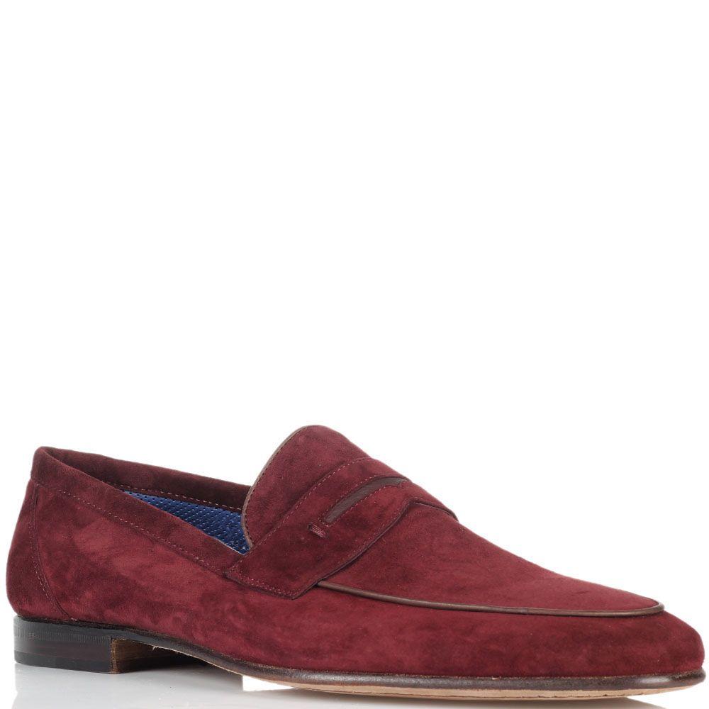 Туфли из замши Moreschi красного цвета
