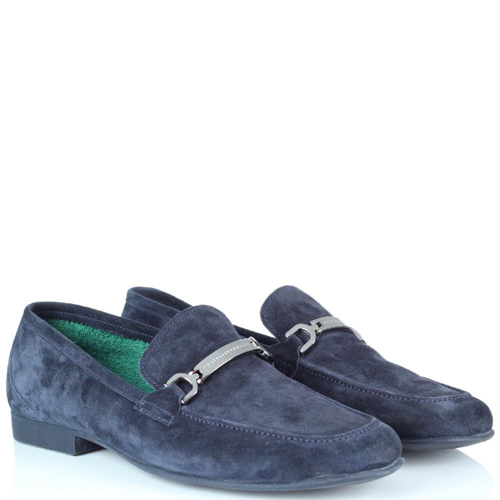 Туфли-лоферы Fratelli Rossetti из замши