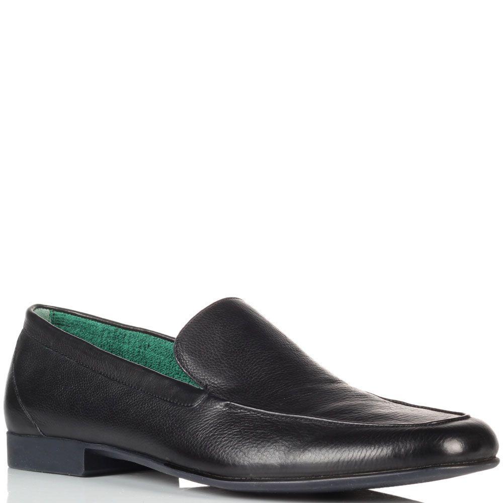 Черные кожаные туфли Fratelli Rossetti