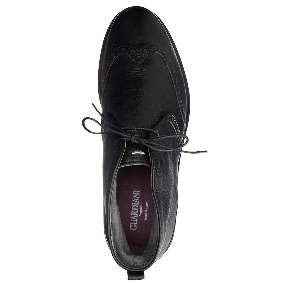 Черные ботинки Alberto Guardiani из зернистой кожи