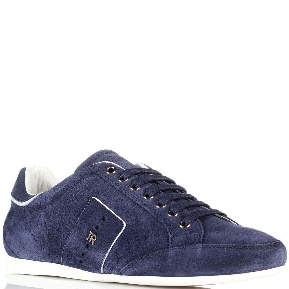 Синие замшевые кроссовки John Richmond с металлическим логотипом