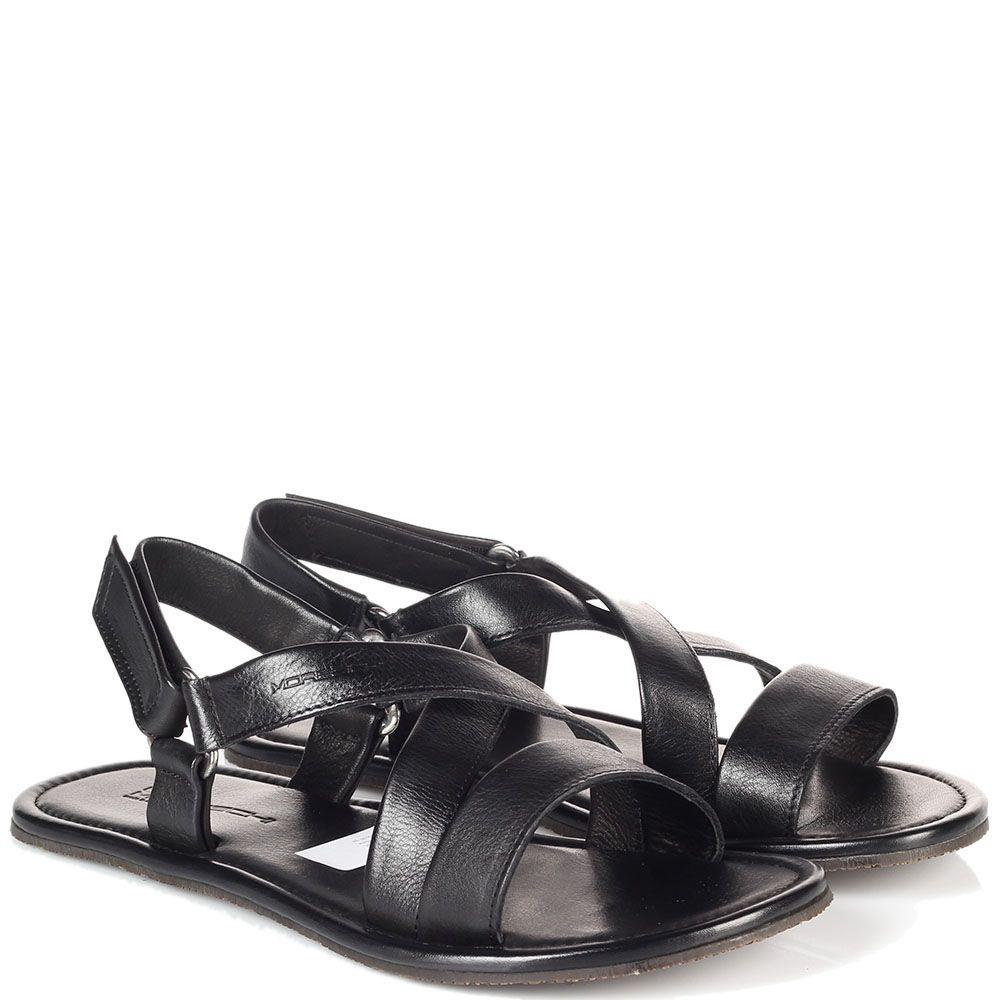 Кожаные сандалии Moreschi на липучках