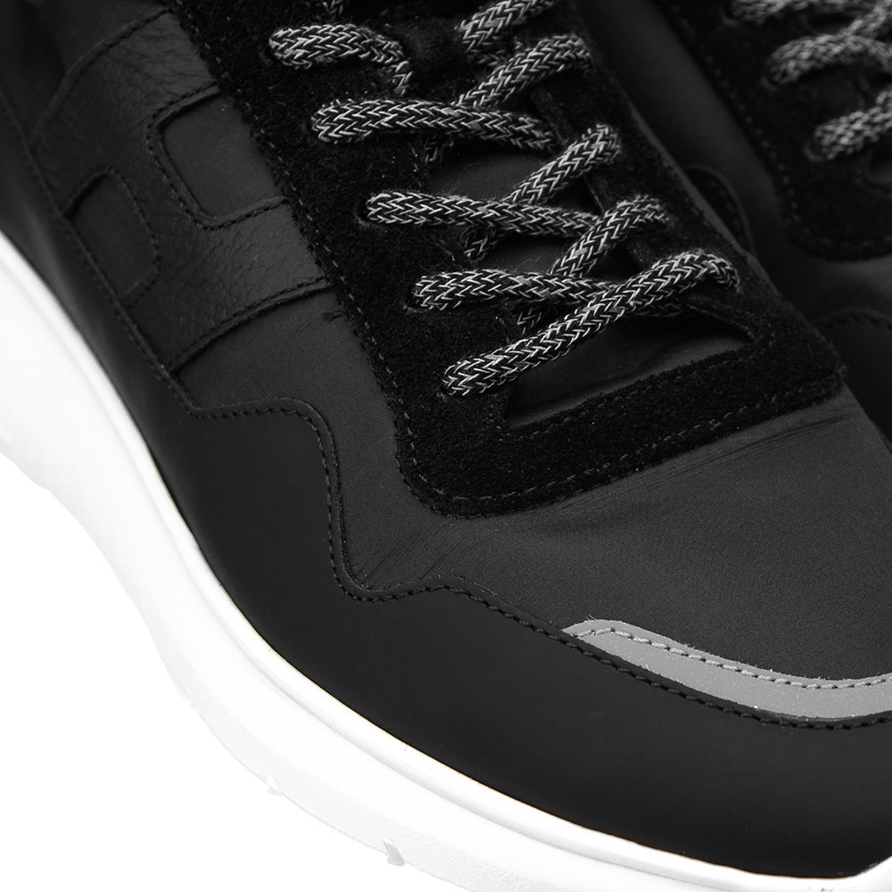 Черные кроссовки Hogan из кожи и текстиля