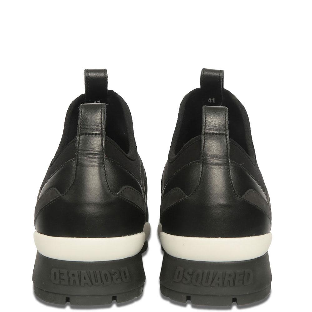 Кроссовки Dsquared2 черного цвета на резинке