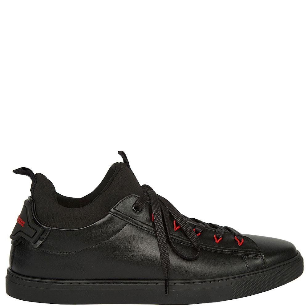 Кеды Dsquared2 черные с красным декором