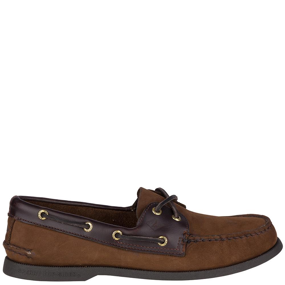 Топсайдеры Sperry мужские темно-коричневого цвета из нубука